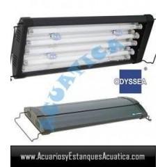 ODYSSEA T5 QUAD 60/80CM 4 X 24W + 4 LED ACUARIO MARINO