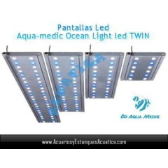 PANTALLA AQUAMEDIC OCEAN LIGHT LED TWIN 90CM 2X54W ACUARIOS