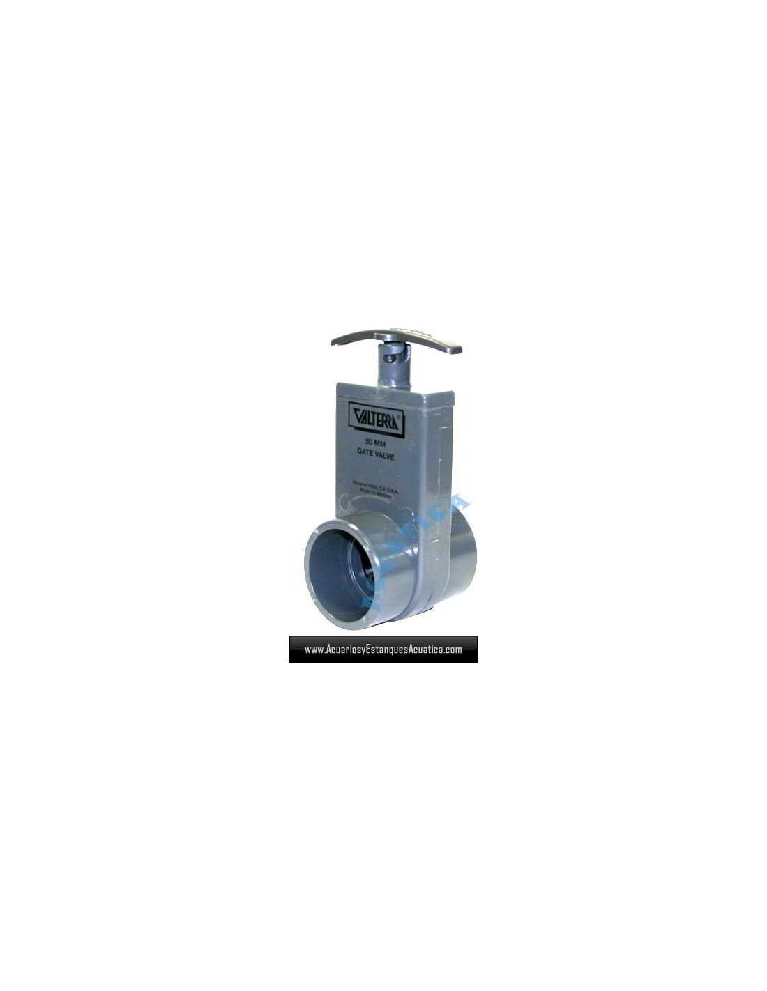 Valvula guillotina valterra unibody 50mm estanques for Estanques de pvc