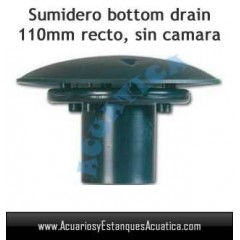 SUMIDERO BOTTOM DRAIN RTF 110MM RECTO ESTANQUES