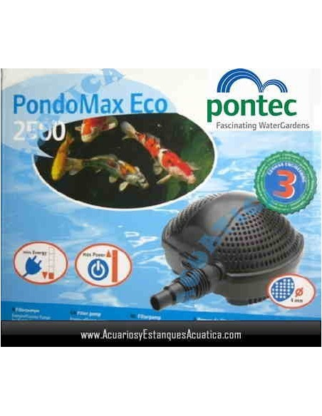 PONTEC PONDOMAX ECO BOMBA DE AGUA ESTANQUES