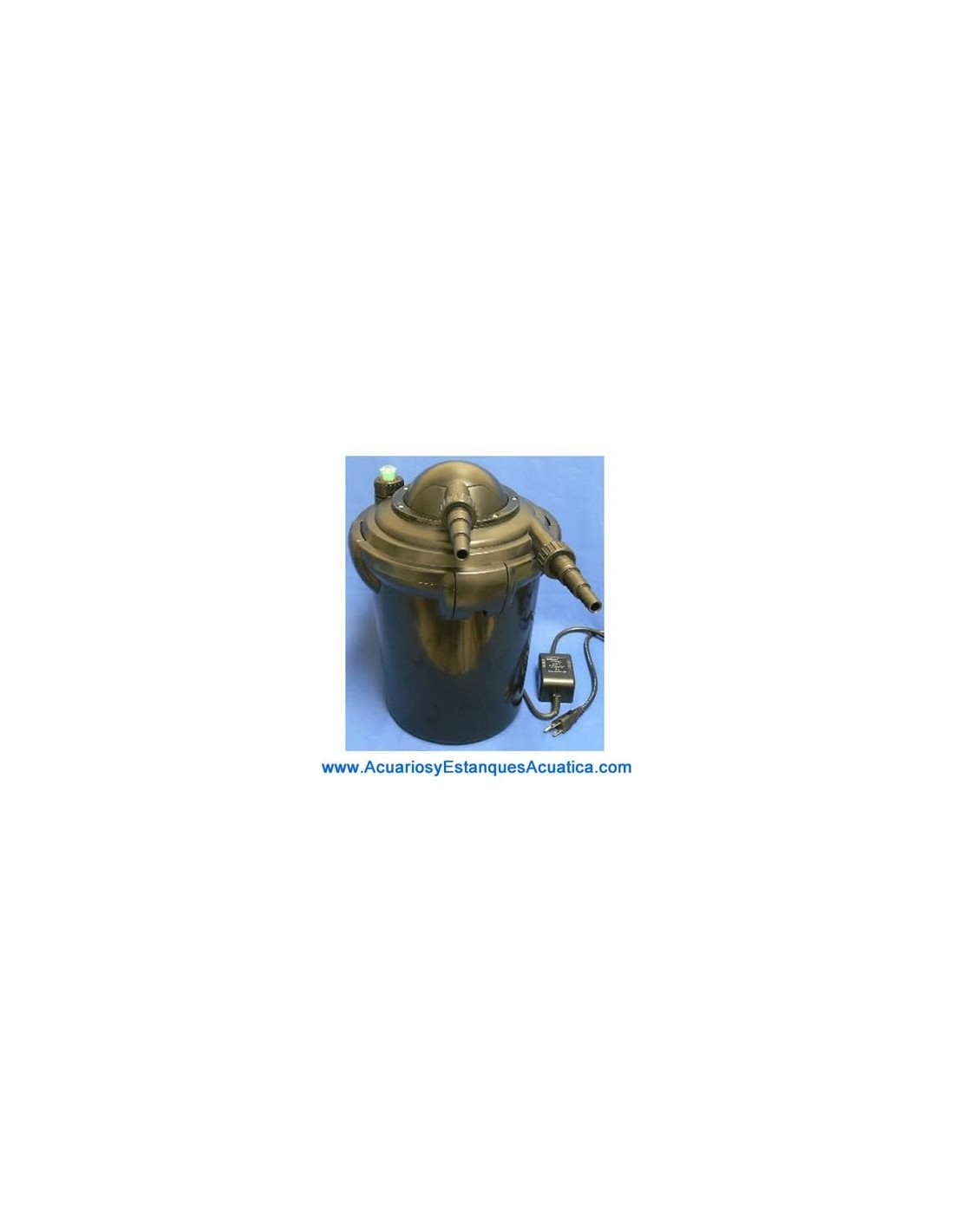 filtro a presion con lampara uv c 7w para estanques