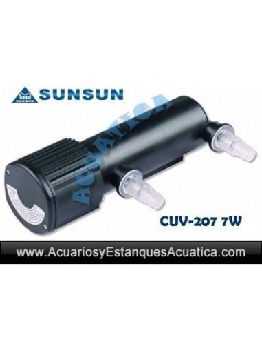 SUNSUN CUV-207 ESTERILIZADOR UV-C 7W ACUARIOS ESTANQUES