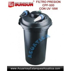 SUNSUN CPF-500 FILTRO A PRESION CON LAMPARA UV-C 18W PARA ESTANQUES