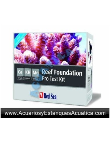 RED SEA Test Reef Foundation Pro Multi Test kit 3 en 1