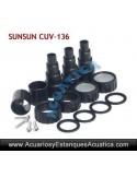 SUNSUN CUV-136 ESTERILIZADOR 36W ACUARIOS ESTANQUES
