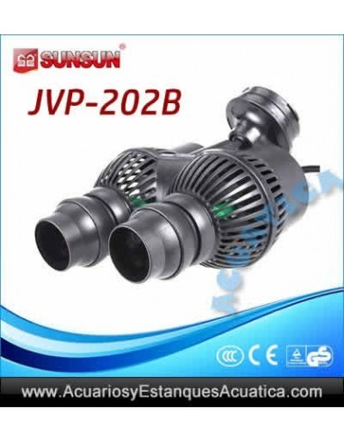 SUNSUN JVP-202 BOMBA RECIRCULACION DOBLE 12,000L/H ACUARIOS