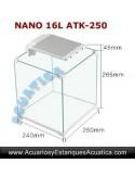 SUNSUN ATK-250C KIT NANO ACUARIO 16 LITROS