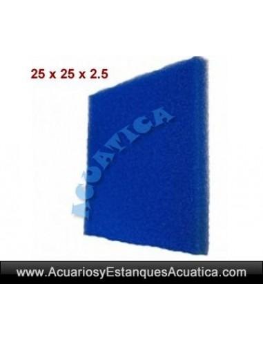 ESPONJA FOAMEX GRUESA 25 X 25 X 2.5CM