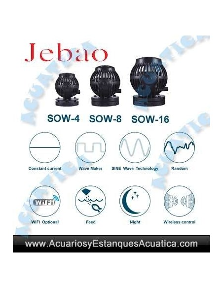 JEBAO OW-SOW BOMBAS MAREA ACUARIOS