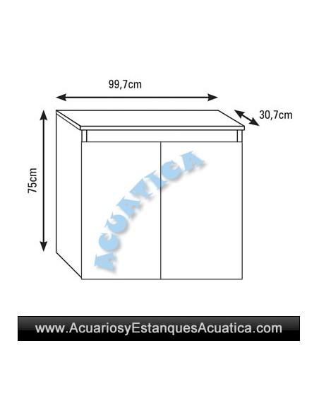 MUEBLE PARA ACUARIOS ICA M100 99.7 x 30.7cm