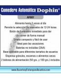 ALIMENTADOR AUTOMATICO DOPHIN A BATERIA PARA ACUARIOS